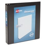 "Avery Showcase Reference View Binder, 1-1/2"" Capacity, Black (AVE19650)"