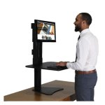 Victor DC300 High Rise Sit-Stand Desk Converter, 28 x 23 x 15.5 (VCTDC300)