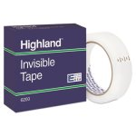 "Highland Invisible Tape, 1"" x 2592"", 3"" Core, 1 Roll (MMM620025921)"