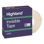 "Highland Invisible Permanent Mending Tape, 3/4"" x 1296"", Clear (MMM6200341296)"