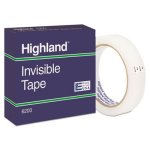 "Invisible Permanent Mending Tape, 3/4"" x 2592"", 3"" Core, Clear (MMM6200342592)"