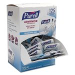 Purell Advanced Hand Sanitizer Packet, 1.2 mL, Clear, 125/Box (GOJ9630125NSBX)