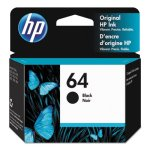 HP 64 (N9J90AN) High Yield Black Original Ink, 200 Page-Yield (HEWN9J90AN)