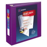 "Avery Heavy-Duty View Binder w/Locking EZD Rings, 3"" Cap, Purple (AVE79810)"