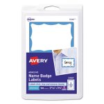 Avery Self-Adhesive Name Badge Labels, Blue Border, 100 Labels (AVE5144)