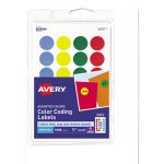 "Avery Removable Color-Coding Labels, 3/4"" Diameter, 1008 Labels (AVE05472)"