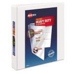 "Avery Nonstick Heavy-Duty EZD Binder, 1-1/2"" Capacity, White (AVE79195)"