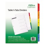 Office Essentials Table 'N Tabs Dividers, 1-5, Letter, 5 Tabs (AVE11667)