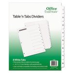 Office Essentials Table 'N Tabs Dividers, 8-Tab, 1-8, Letter, Set (AVE11668)