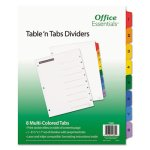 Office Essentials Table 'N Tabs Dividers, 1-8 Multicolor Tabs, Letter (AVE11669)