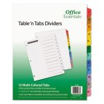 Office Essentials Table 'N Tabs Dividers, 1-12, Letter, 1 Set (AVE11673)