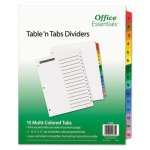 Office Essentials Table 'N Tabs Dividers, 1-15, Letter, 1 Set (AVE11675)