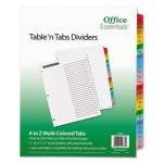 Office Essentials Table 'N Tabs Dividers, A-Z, Assorted, 1 Set (AVE11677)