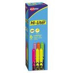 hi-liter-fluorescent-pen-style-highlighter-chisel-tip-6-set-ave23565