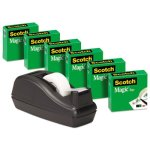 "Scotch Scotch Magic Tape, 1"" Core, Black, 6 Rolls (MMM810C40BK)"