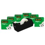 Scotch Magic Tape Value Pack with Free C38 Dispenser, 6 Rolls (MMM810K6C38)