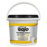 gojo-scrubbing-towels-hand-cleaning-white-yellow-170-bucket-goj639802