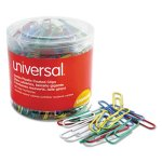 Universal Paper Clips, Vinyl Wire, Jumbo, Assorted Colors, 250/Pack (UNV95000)