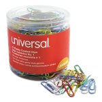 universal-paper-clips-vinyl-coated-wire-no-1-assorted-500-pack-unv95001
