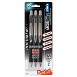 pentel-energel-pro-pigment-gel-pen-07-mm-blue-ink-3-pens-penblp77bp3c