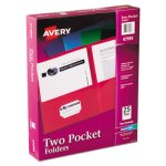 Avery Two-Pocket Folder, Embossed Paper, Assorted Colors, 25 per Box (AVE47993)