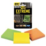 Post-it Extreme Notes Water-Resistant, Multi-Colored, 3 Pads (MMMXTRM333TRYMX)