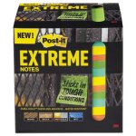 Post-it Extreme Notes, 3 x 3, Assorted, 45 Sheets/Pad, 12 Pads (MMMXTRM3312TRYX)