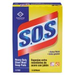 S.o.s. Steel Wool Soap Pad, 15 Pads/Box (CLO88320BX)
