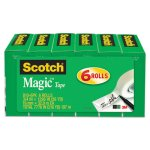 "Scotch Magic Tape, 3/4"" x 1296"", 1"" Core, Clear, 6/Pack (MMM8106PK)"