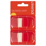 Universal Page Flags, Red, 2 Dispensers of 50 Flags/Pack (UNV99001)