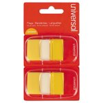 Universal Page Flags, Yellow, 50 Flags/Dispenser, 2 Dispensers/Pack (UNV99006)