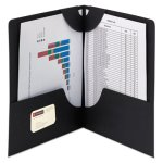 Smead Lockit Two-Pocket Folders, 11 x 8-1/2, Black, 25 Folders (SMD87981)