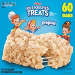 Kellogg's Rice Krispies Treats, Original, 0.78oz Pack, 60 Packs (KEB17114)