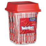 Twizzlers Strawberry Licorice, Wrapped, 2lb Tub (TWZ51902)