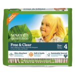 Seventh Generation Free & Clear Baby Diapers, Size 4, 108 Diapers (SEV44063)