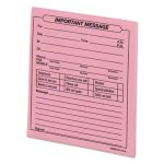 Universal Important Message Pink Pads, 4-1/4 x 5-1/2, 50/Pad, 12/Pack (UNV48023)