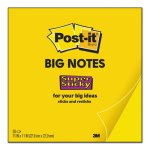 Post-it Notes Super Sticky Big Notes, Unruled, 11 x 11, YL, 30 Sheet (MMMBN11)