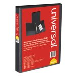 "Universal D-Ring View Binder, 1"" Capacity, 8-1/2 x 11, Black (UNV30711)"