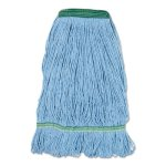 Boardwalk Blue Dust Mop Head, Medium, Looped End (BWK502BLNB)
