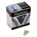Baumgartens Plastiklips Paper Clips, Large, Assorted Colors, 200/Box (BAULP0600)