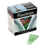 Baumgartens Plastiklips Paper Clips, XL, Assorted Colors, 50 Clips (BAULP1700)