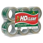 "Duck Heavy-Duty Carton Packaging Tape, 3"" x 55 yards, Clear, 6/Pack (DUC0007496)"