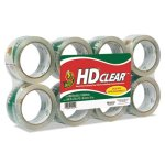 "Duck Heavy-Duty Carton Packaging Tape, 1.88"" x 55 yards, Clear, 8/Pk (DUC282195)"