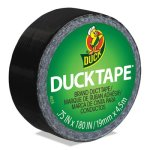 "Duck Ducklings DuckTape, 9 mil, 3/4"" x 180"", Black (DUC282309)"