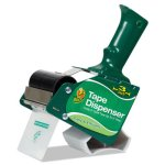 "Duck Extra-Wide Packaging Tape Dispenser, 3"" Core, Green (DUC1064012)"