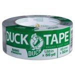 "Duck Utility Grade Tape, 1.88"" x 55 yards, 3"" Core, Gray (DUC1118393)"