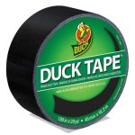 "Duck Colored Duct Tape, 3"" Core, 1.88"" x 20 yds, Black (DUC1265013)"