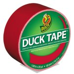"Duck Colored Duct Tape, 1.88"" x 20 yds, 3"" Core, Red (DUC1265014RL)"
