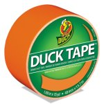 "Duck Colored Duct Tape, 1.88"" x 15 yds, 3"" Core, Neon Orange (DUC1265019RL)"