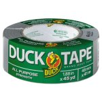 "Duck Brand Duct Tape, 1.88"" x 45 yards, 3"" Core, Gray (DUCB45012)"